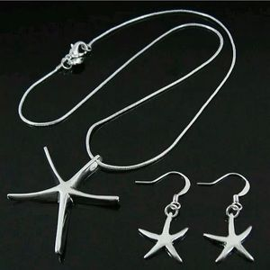 New  sterling silver Starfish set